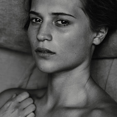 Alicia Vikander goes topless for Interview Magazine June 2015 photoshoot