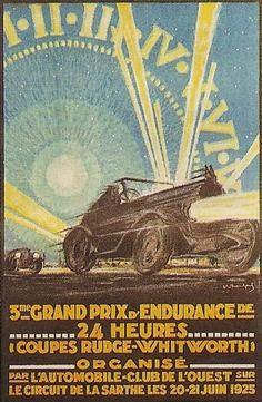 Affiche officielle des 24 Heures du Mans 1925