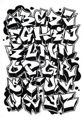 Graffiti Alphabet Letter A-Z by Dadou
