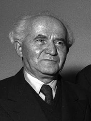 David Ben-Gurion: Primary founder and the first  Prime Minister of Israel.