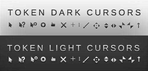 Token dark and light cursor scheme