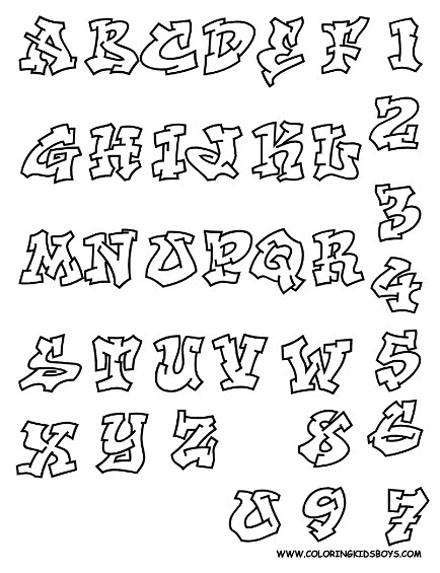 Fancy Cursive Letters Coloring Pages