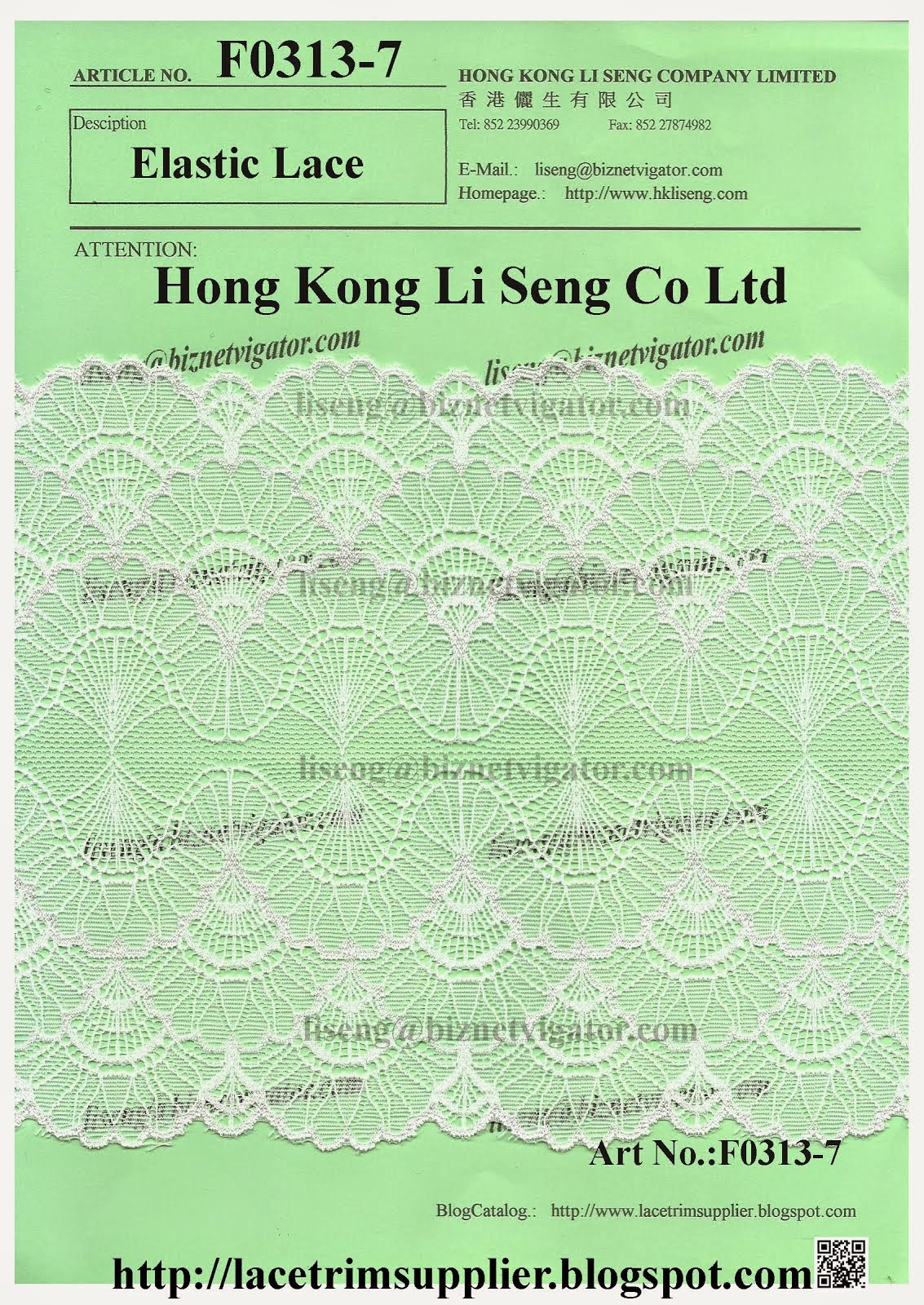 Lace Trim Factory - Hong Kong Li Seng Co Ltd