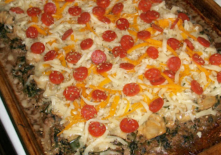 gluten-free meat crust pizza