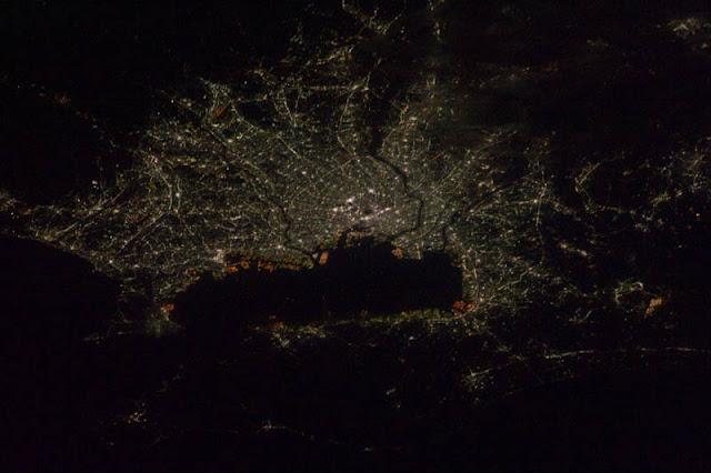 Fotografías nocturnas desde la estación internacional