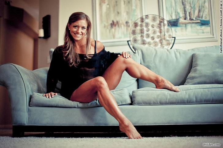 Holland Canter Modeling Her Muscular Calves