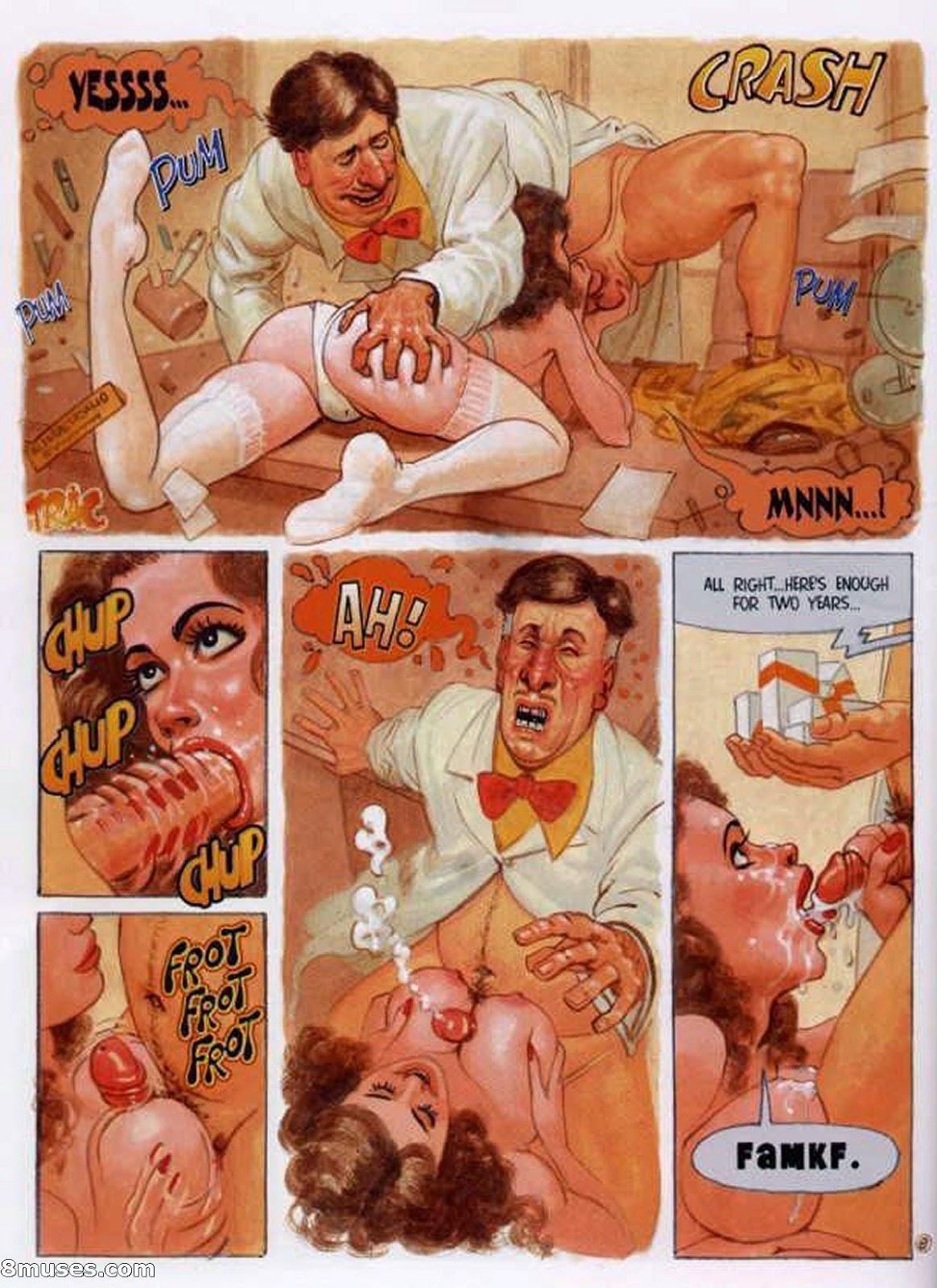 Мне ретро эротические комиксы были тебя