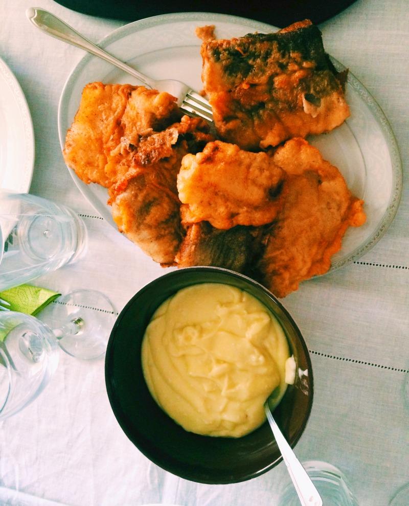 Ioanna's Notebook - Fried cod with scordalia (Greek garlic-potatoe dip)