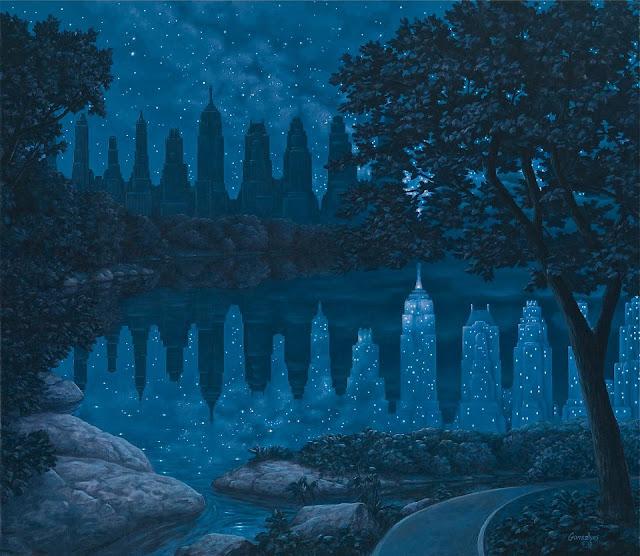 33 Karya Lukisan Ilusi Optik Indah dari Rob Gonsalves