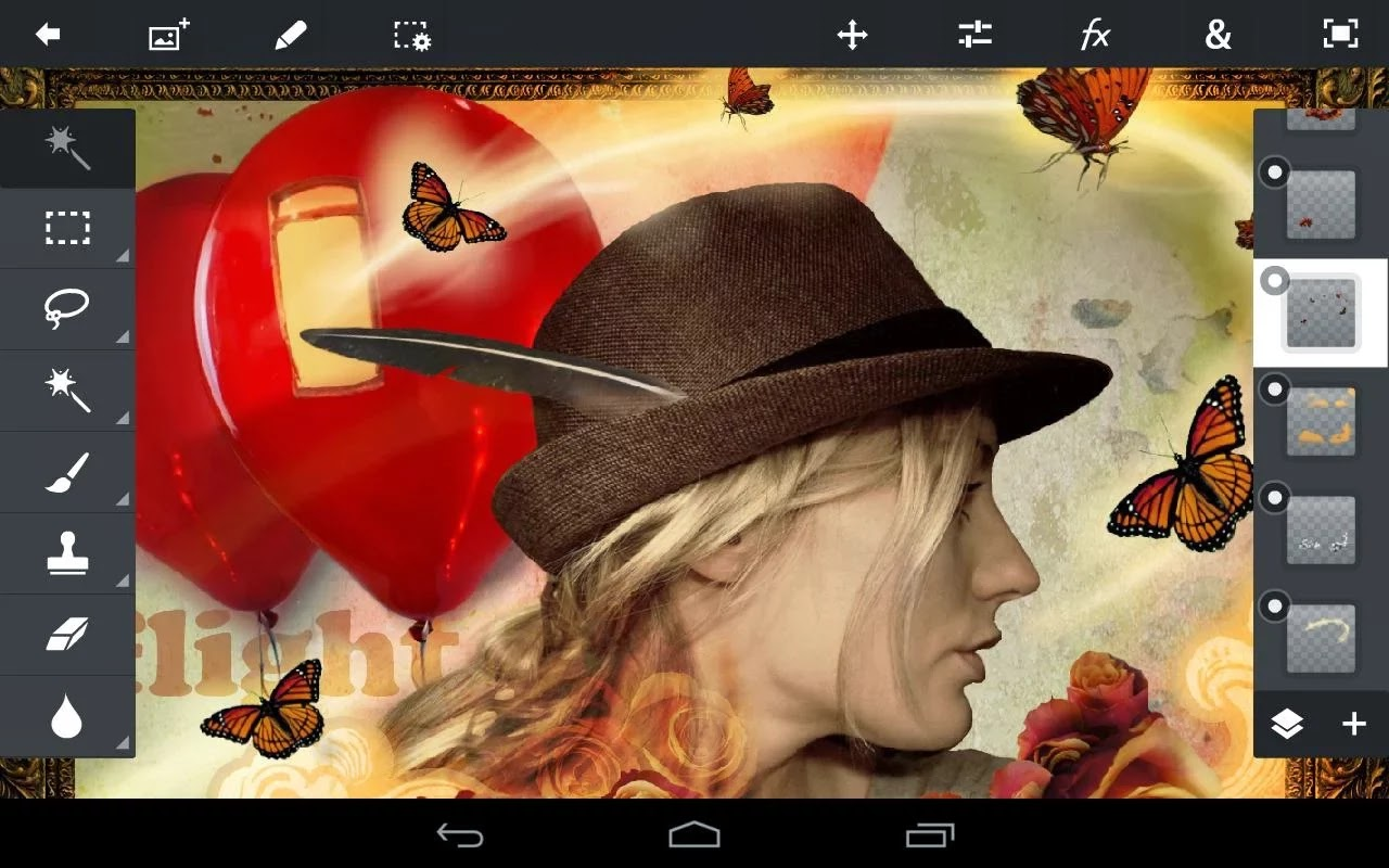 Android Adobe Photoshop Touch Apk resimi 1