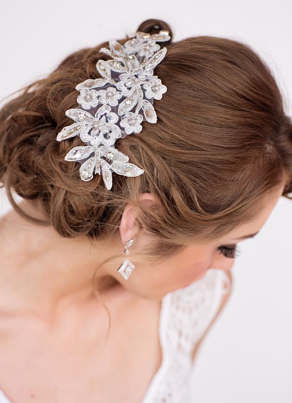 Nicolette Bridal Headpiece - www.perlejewellerymakeup.com.au