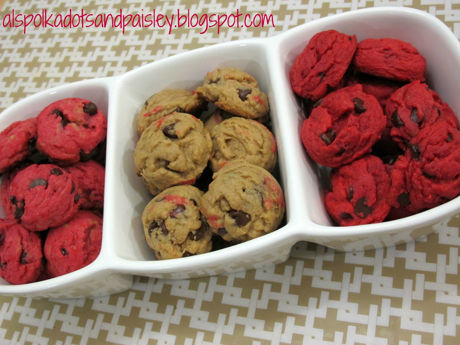 To add the colouring, weseparated the cookies into three bowls. We ...
