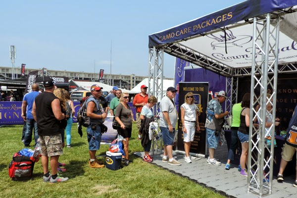 As part of the Crown Royal Heroes Project, IMS NASCAR fans were able to stuff CAMO care packages to be sent to military servicemen and women stationed abroad.  #crownheroes #jww400 #reignon #nascar