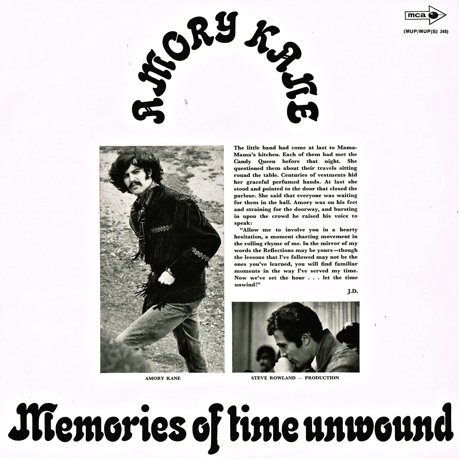 Amory Kane Memories Of Time Unwound
