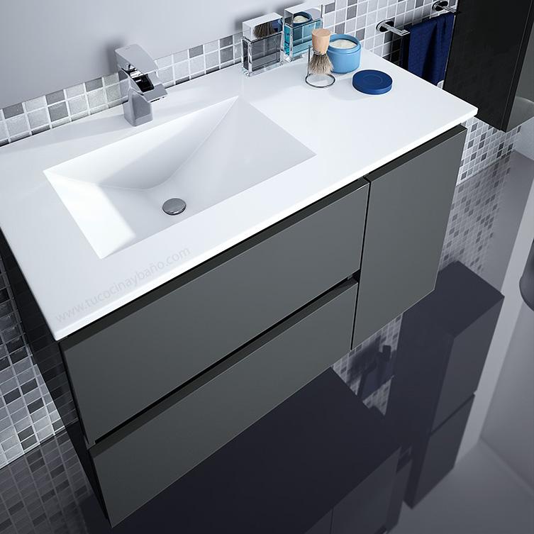 Mueble ba o seno desplazado tu cocina y ba o - Mueble lavabo suspendido ...