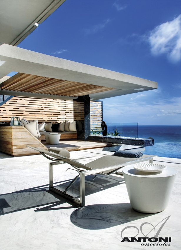 Terrace furniture at Head Road 1843 by Antoni Associates