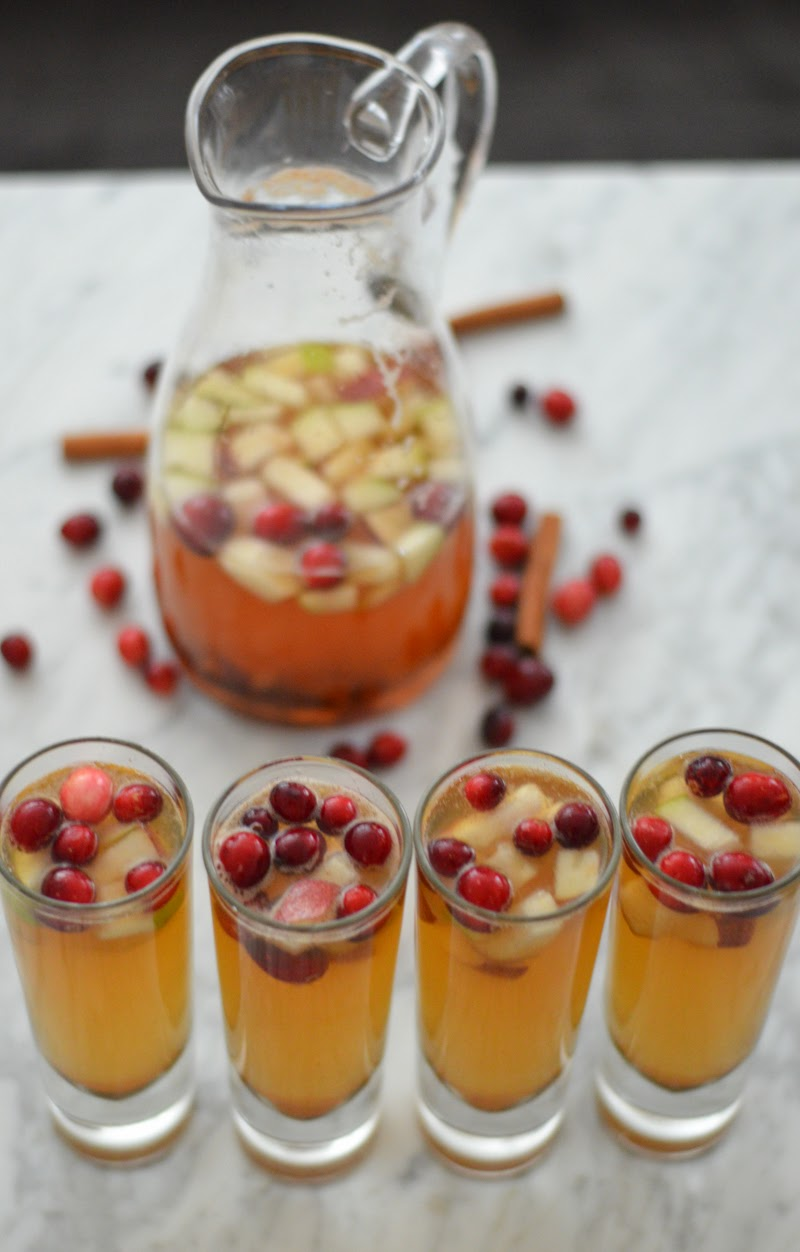 Winter Apple Pear + Cranberry Sangria | Luci's Morsels