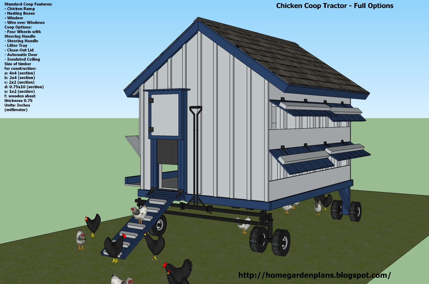 Chicken Co-op Tractor Plans Free