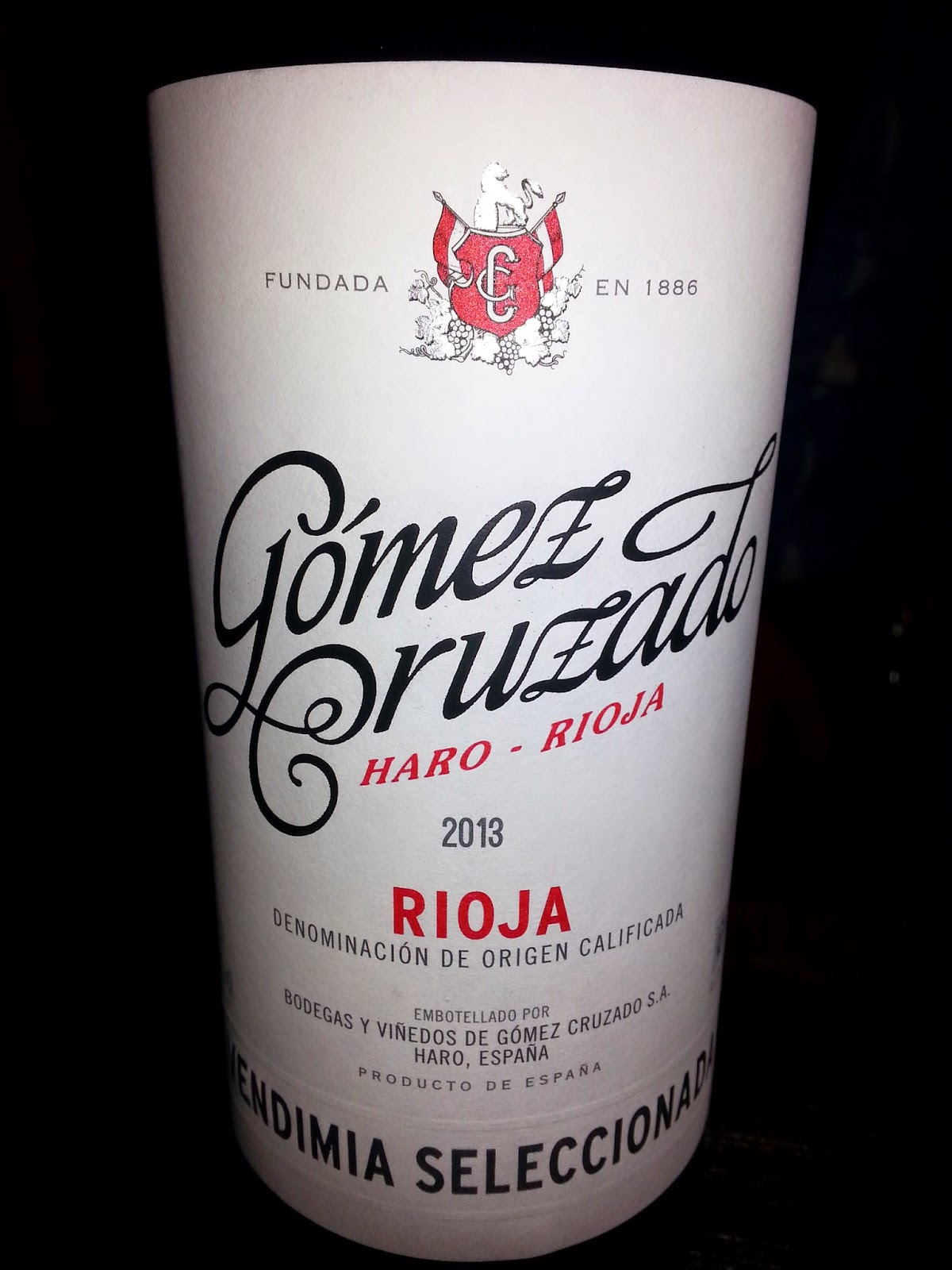 GOMEZ CRUZADO VENDIMIA SELECCIONADA 2013, D.o.c Rioja