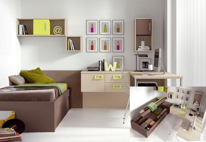 Dormitorios para espacios pequenos dise os for Disenos de cuartos pequenos