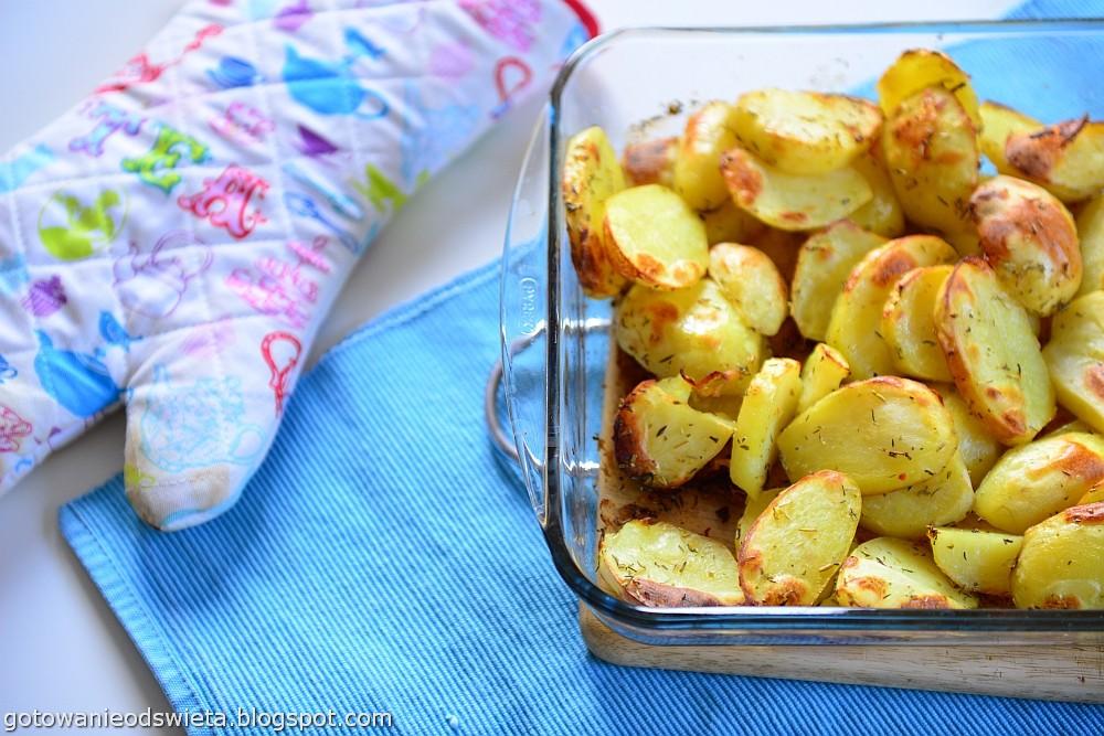 pieczone ziemniaki do chorizo