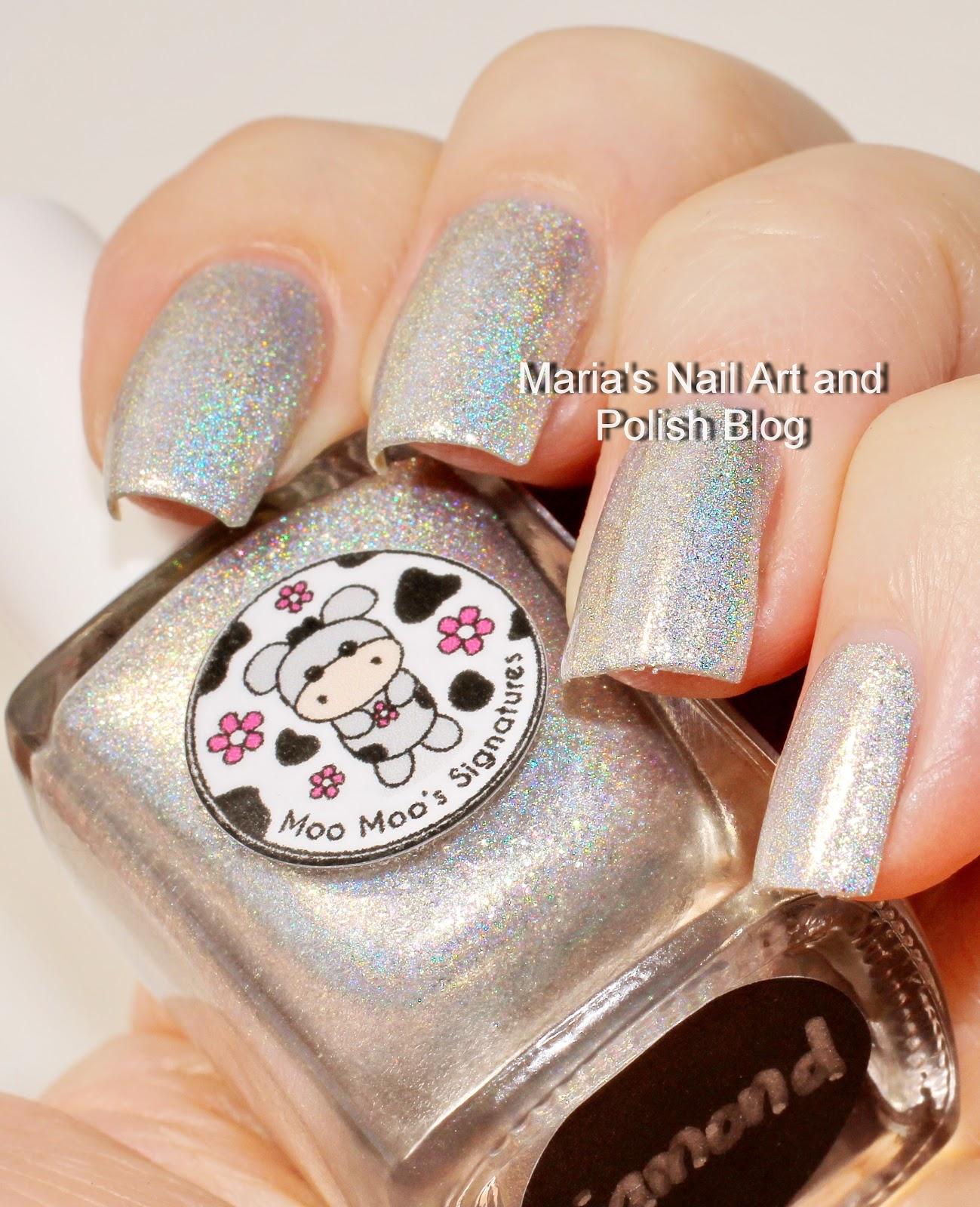 Marias Nail Art And Polish Blog Flushed With Stripes And: Marias Nail Art And Polish Blog: Moo Moo's Signatures