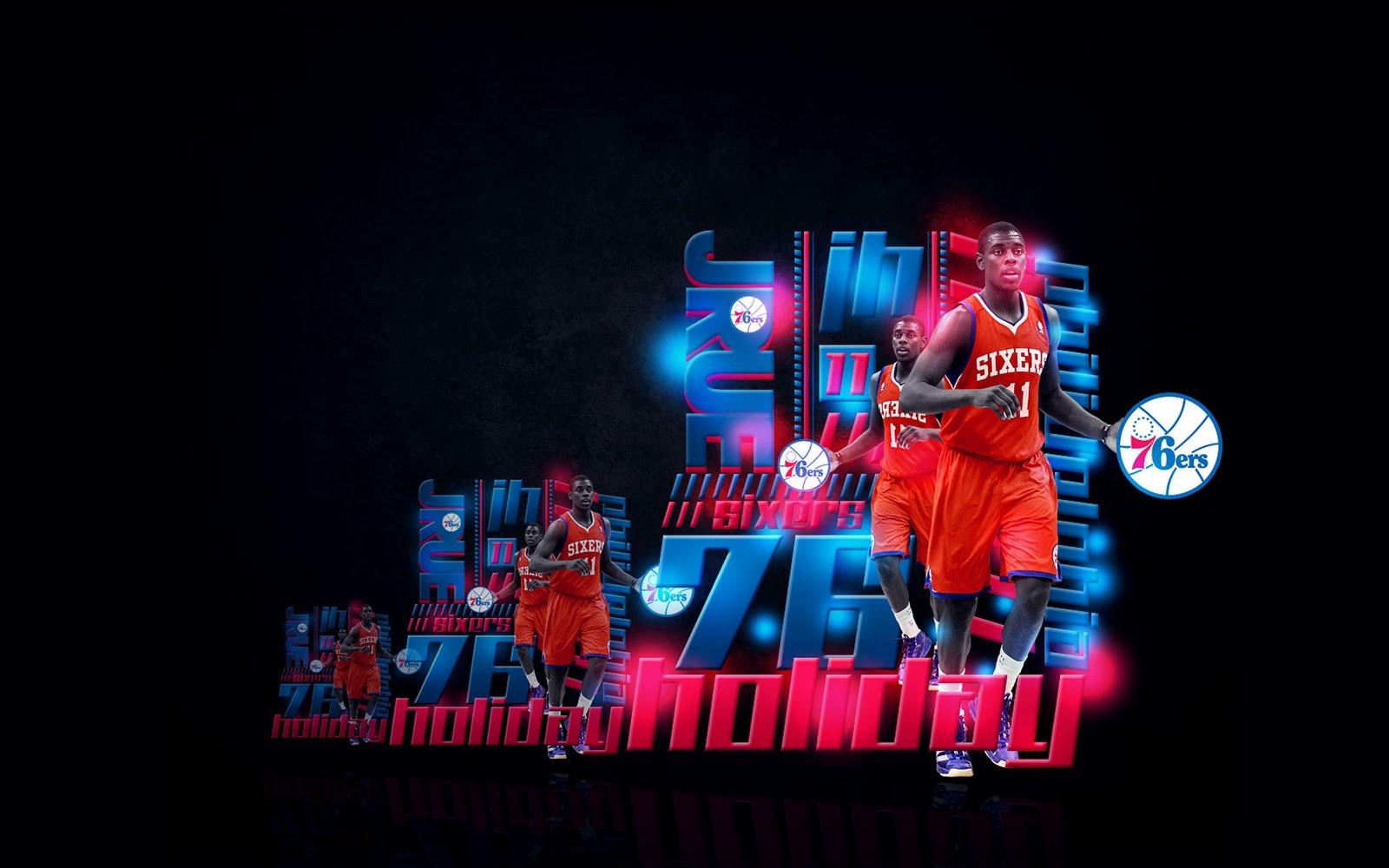 jrue holiday philadelphia 76ers widescreen wallpaper big