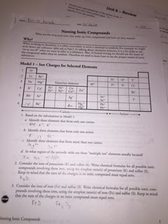 On Wednesday we started worksheet 3 of Unit 6. This worksheet once again covered ionic compounds but now that we had previous knowledge on them ... & Patrick\u0027s Reflective Blog ngosaveh.com