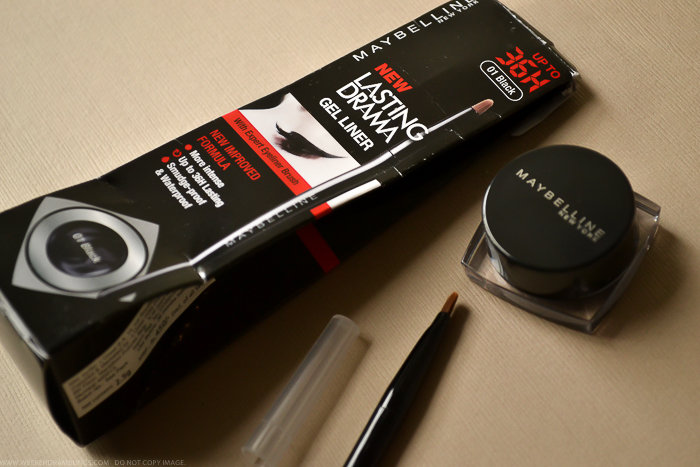 Maybelline India Eye Studio Lasting Drama Gel Eyeliner Black 36 Hours - Review Photos Swatch Makeup Looks FOTD Beauty Blog