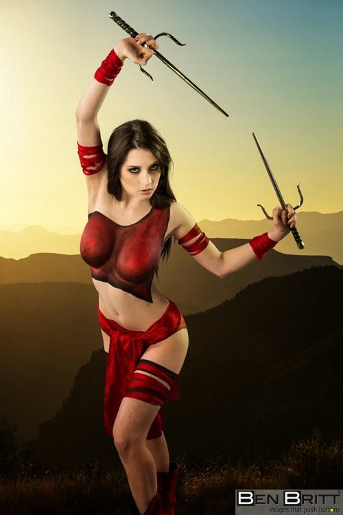 Body Painting sexy cosplay - Elektra