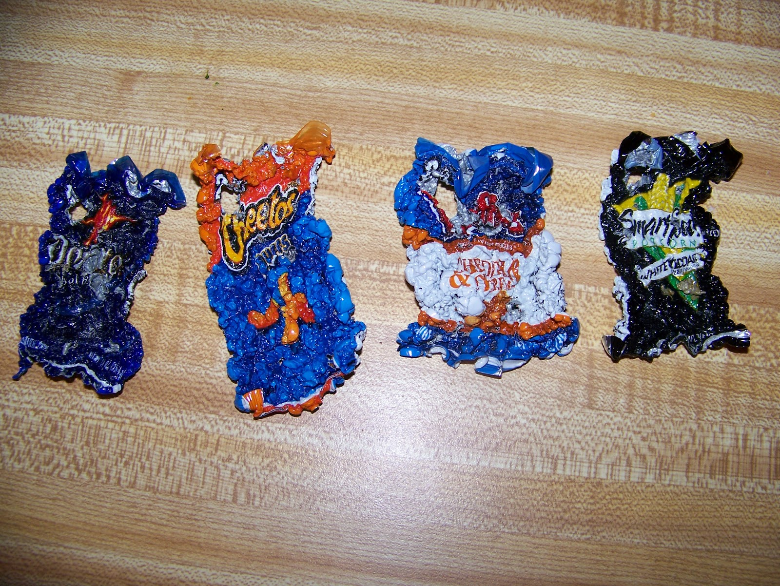 cooley stuff chip bag shrinky dink key chains