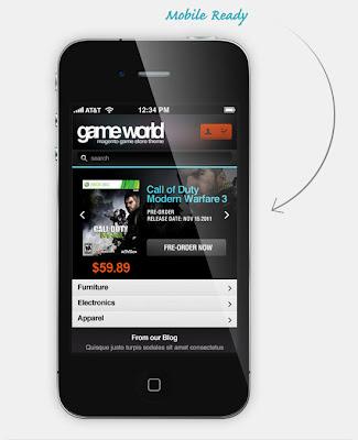 EM GameWorld Mobile Version -Responsive Magento Theme