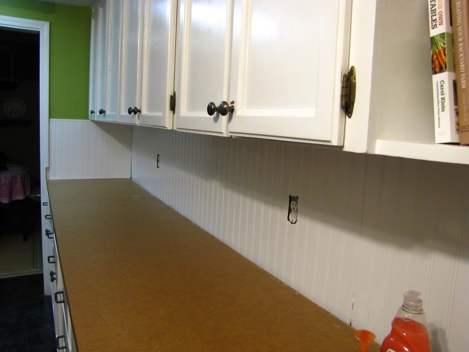 Wainscoting Kitchen Backsplash The Modest Homestead Beadboard Backsplash Tutorial