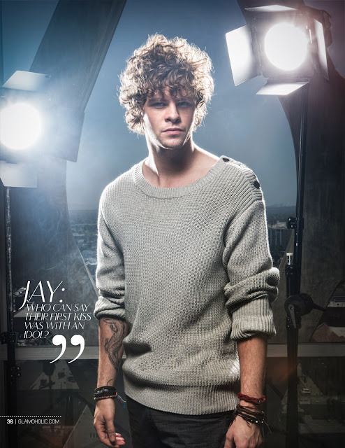 Jay do The Wanted na revista Glamoholic