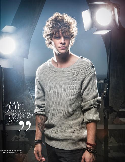 Jay do The Wanted na revista Glamoholic