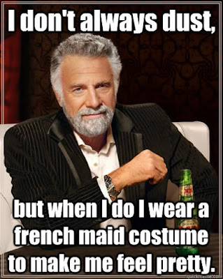 I wear my French Maid costume