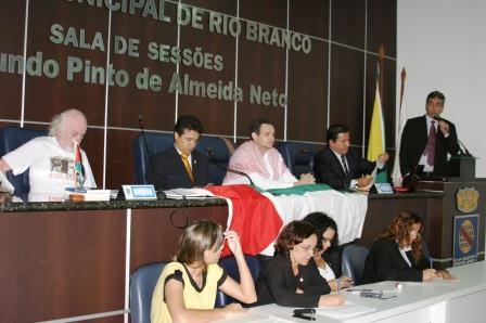 Vereadores do Acre prestam homenagem ao povo palestino