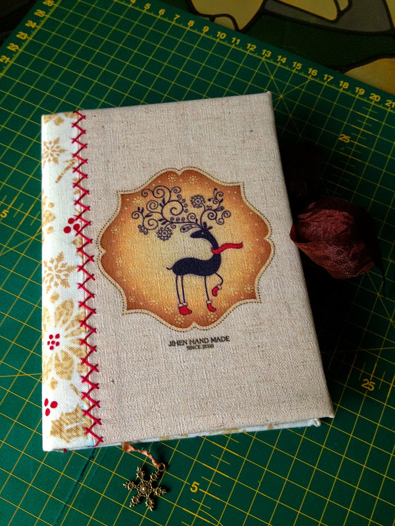 состаренный блокнот, артбук, текстильный блокнот