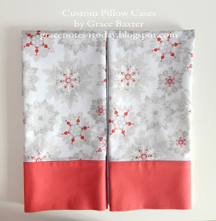 Elegant SNowflakes, Custom Pillow Cases by Grace Baxter
