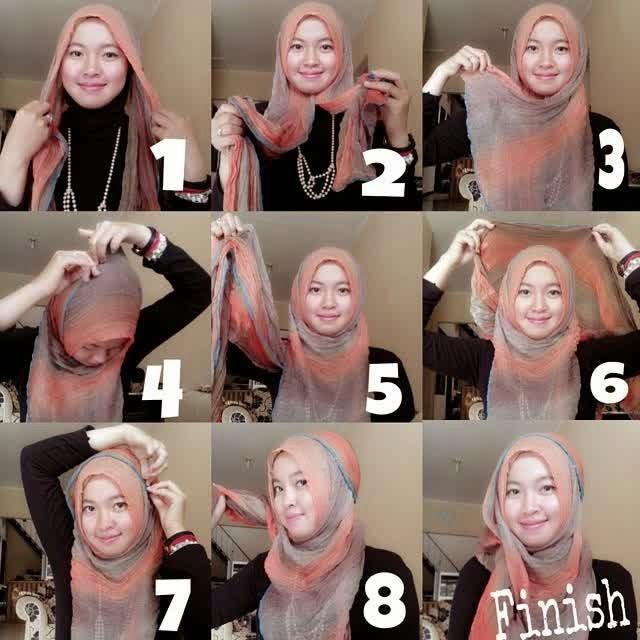 Tips Cantik Menggunakan Jilbab Modern