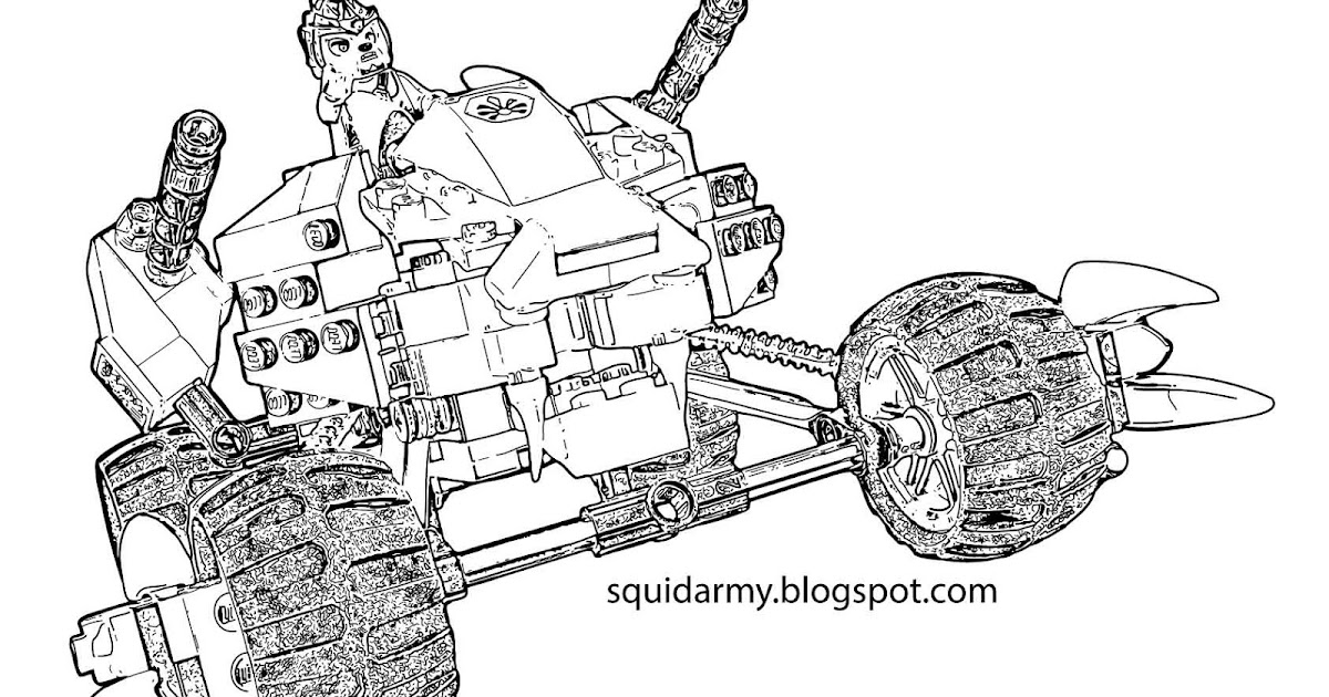 Lego Chima Coloring Pages - Lennox lion attack - Squid Army