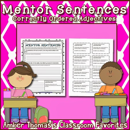 http://www.teacherspayteachers.com/Product/Mentor-Sentences-Correctly-Ordered-Adjectives-1042827