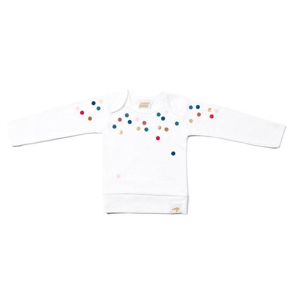 confetti print kids t-shirt