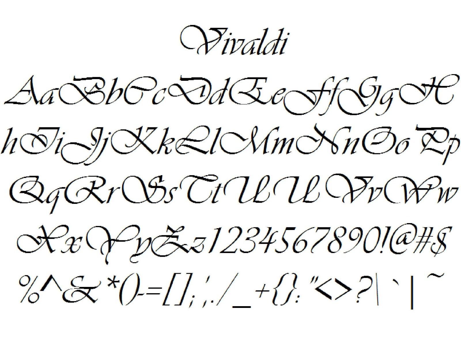 Font Alphabet Styles