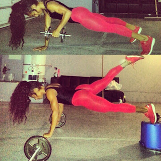 black fitness babe qimmah russo working out