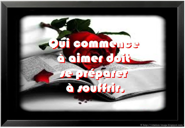 Citation souffrir d'aimer en image