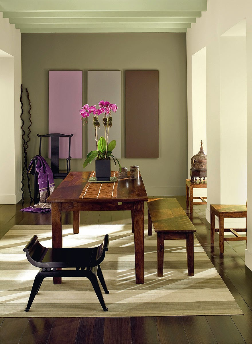 Dining room purple paint