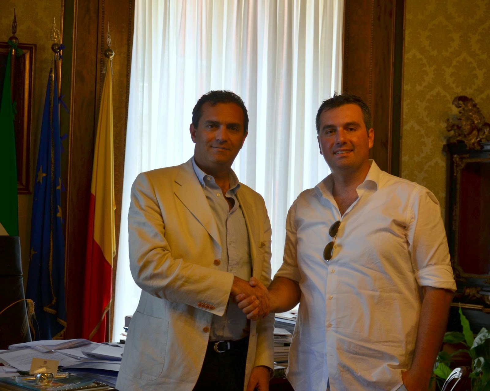 luigi de magistris and jerry de concilio to improve cycling in napoli