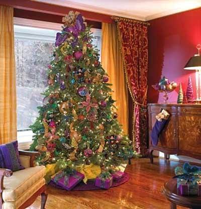 imagen de luces de colores en navidad