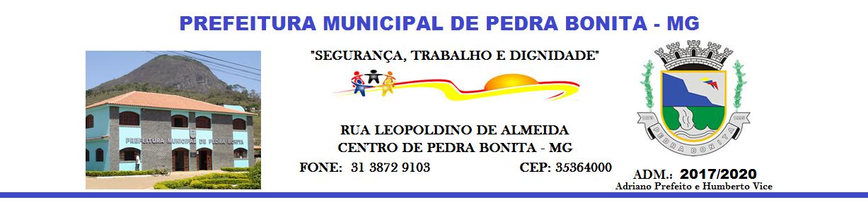 PREFEITURA DE PEDRA BONITA MG